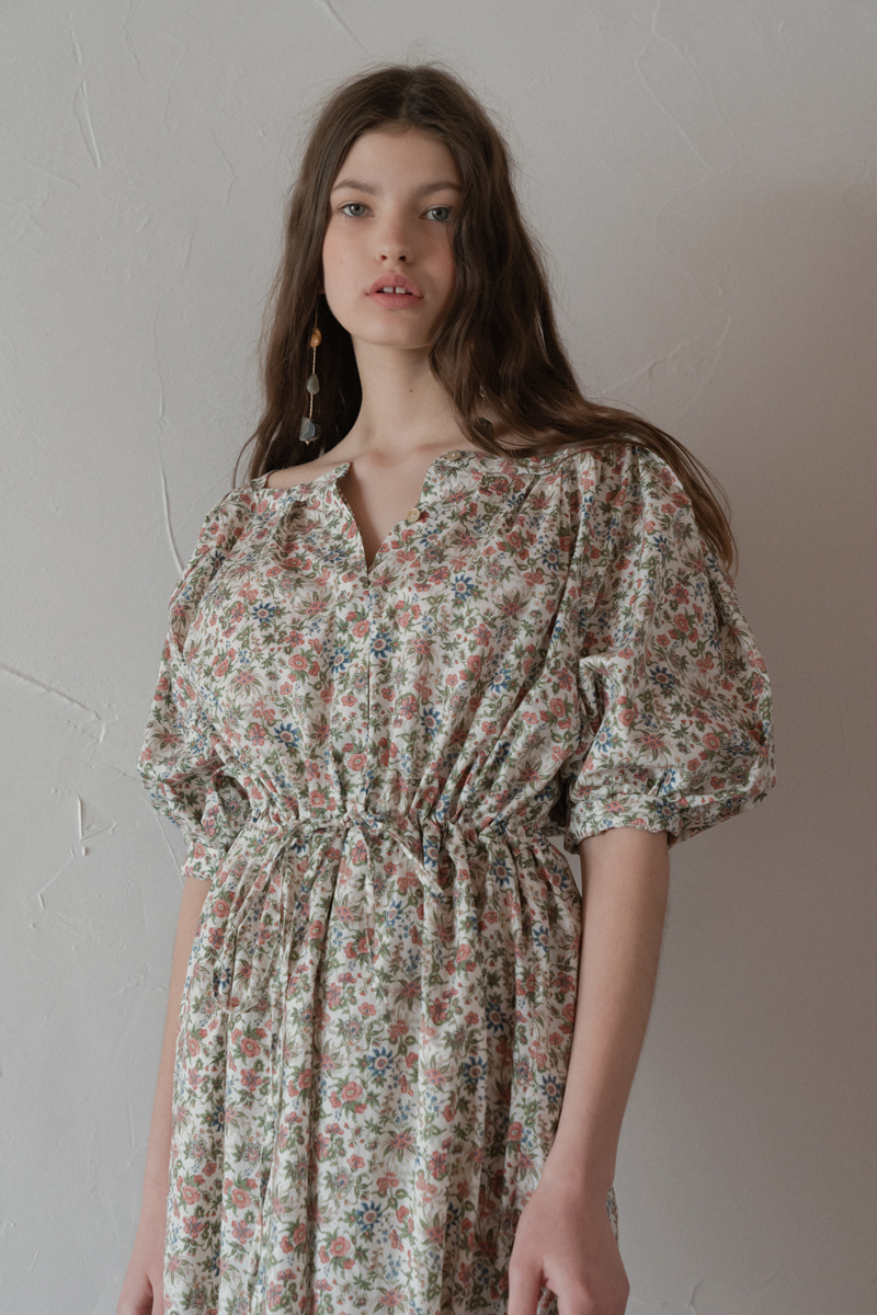 MARSEILLE FLOWER PRINT DRESS PINK