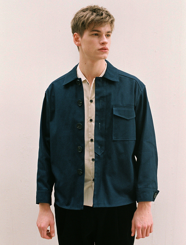 TWILL JACKET NAVY (MEN)