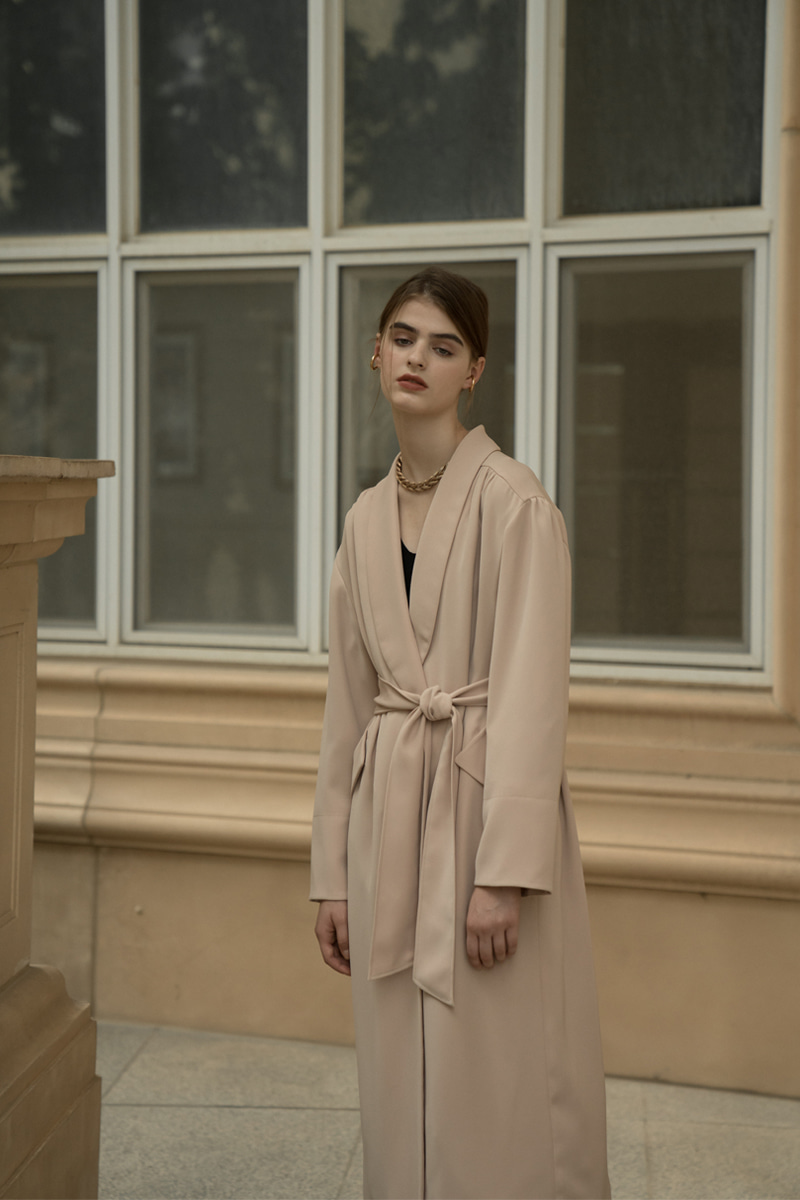 BERLIN ROBE COAT BEIGE